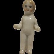 Beautiful German Frozen Charlotte Bathing Doll 1,41 inch 1850-1900