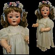 "Antique Stunning Heubach Koppelsdorf 342/7 23"" Bisque Doll with blue eyes"