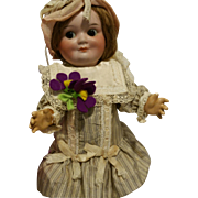 """11"""" Antique German Doll Demalcol marked """"Demalcol 5/0 Germany""""Googly 25 cm"""