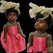 "6,70"" Antique Kestner doll Flapper Body Antique Girl on Composition Black Body 133-2 1/2 0"