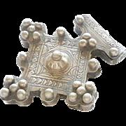 vintage Silver Cross Pendant Moroccan 1930's