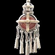 vintage Ethiopian Amber amulets cross pendant 1930'S