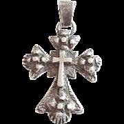 vintage A Unique Patterned Ethiopian Cross Pendant 1800's