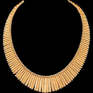 Exquisite Gold Fringe Necklace
