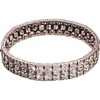 Magnificent Art Deco Diamond Bracelet