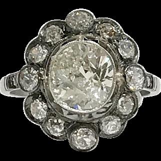 Magnificent Cushion Cut Diamond Ring
