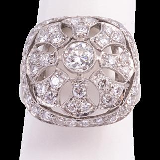 Fabulous Art Deco Diamond Cocktail Ring