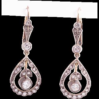 Beautiful Edwardian Diamond Earrings