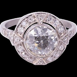 Gorgeous European Cut Diamond Ring