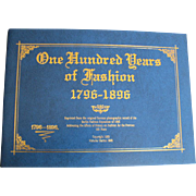 "French Fashion Enthusiasts Great Reference -  Booklet ""One Hundred Years of Fashion 1796-1896"" Saphire Cover"