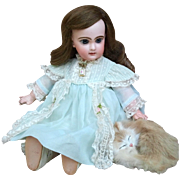 Fine Hand Sewn Dress for 16 - 18 Inch Antique French or German Doll