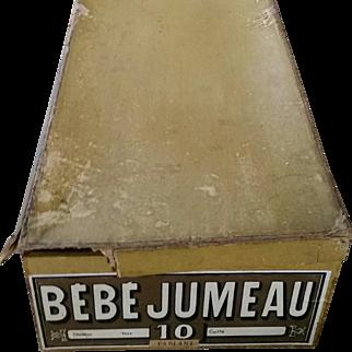 Near Mint Bebe Jumeau 10 CM Doll - All Original Tagged Dress in Box w Lid Rare Find!