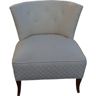 Vintage Mid Century Modern Accent Chair - Great Embossed Fabric - STYLISH