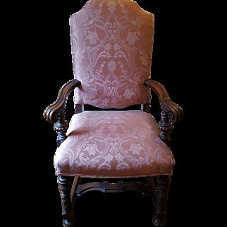1920's Mahogany High Back Arm Chair