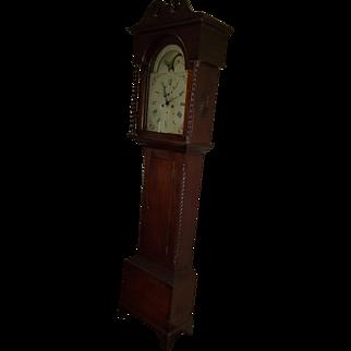 Antique Simon Willard Grandfather Long-Case Clock circa 1760, Working Condition