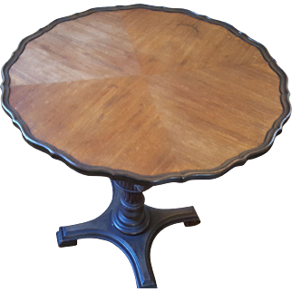 1920's Mahogany Pie Crust Side Table - Lion's Claw Feet