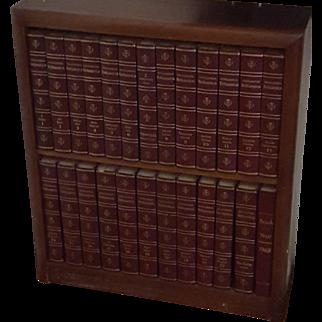 Encyclopedia Britannica Complete Set - 25 Volumes - 1967 - With Custom Shelf