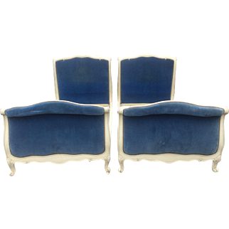 Pair Louis XV-style Painted Beds