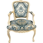 French Louis XV-style painted fauteuil