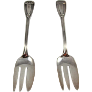 Tiffany 2pcs. Sterling Silver Caviar Forks
