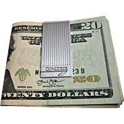 British Sterling Silver Concord Money Clip
