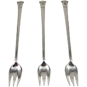 Tiffany Sterling Silver 3 Pcs Set Of Cocktail Forks