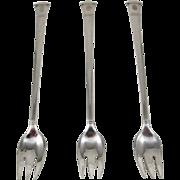 Tiffany Sterling Silver 3 Pcs Set Of Cocktail Forks