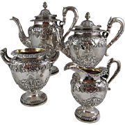 Scotish Sterling  Silver 4 Pcs. coffee, Tea service