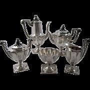 1877 Tiffany Sterling Silver 5 pcs. Coffee, Tea Service