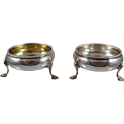 A pair Of Sterling Silver English Salt & Pepper Servers