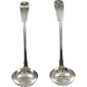 a Pair of English Sterling Silver Ladles