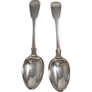 A Pair Of English Sterling Silver Desert Spoons