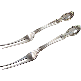 "A Pair Of Tiffany Sterling Silver ""Richelieu"" Fruit Forks"