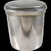 French .800 Silver  Tea Caddy ca. 1886