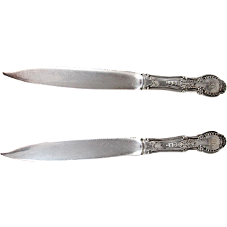 "A Pair Of Tiffany Sterling Silver ""Richelieu"" Serrated Fruit Knives"