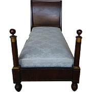Beautiful Antique French Empire 19th century single Bed
