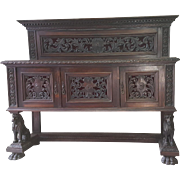 19th Century large Renaissance Style Buffet Sideboard cabinet