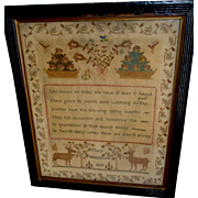 "19th Century Sampler, signed ""Mary Hutcheson"" and dated ""1815"""