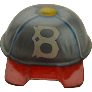 Vintage,Tin, Whistle, Boston Red Sox Baseball Cap Lithographed Design