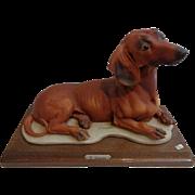 Giuseppe Armani Capodimonte Dachshund Figurine Florence Italy
