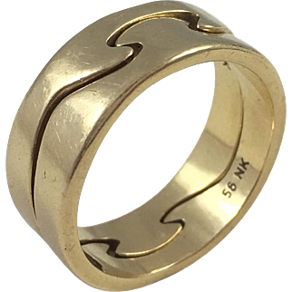 Georg Jensen 18 karat gold 'Fusion' ring