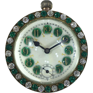 Large French Jewelled Ball Clock c.1910