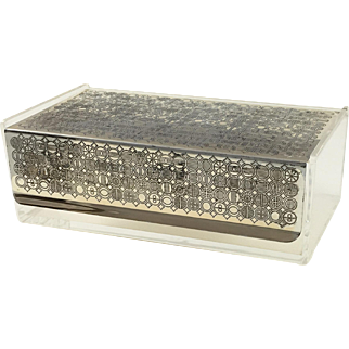 Scandinavian Lucite and Chromed Metal Box c.1960