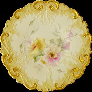 An exquisite antique Royal Worcester Works (Grainger&Co) cabinet plate, 1894