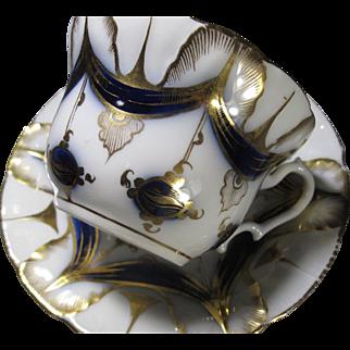 Vieux Paris, Valentine, Porcelain Cup & Saucer
