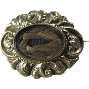 Little Victorian Mourning Brooch with Hair