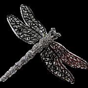 Carolee Large Dragonfly Trembler Brooch