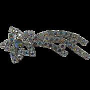Aurora Borealis Rhinestone Shooting Star Brooch