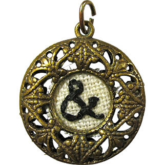 Edwardian Filigree Pendant With Hand-Stitched Ampersand