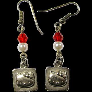 Hello Kitty 1990s Designer Dangle Earrings by Sanrio